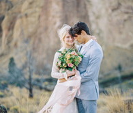 Organic Natural Oregon Wedding Portrait