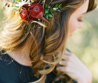 Engagement shoot hairstyle