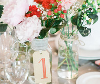 Vintage Portugal wedding table number