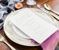 Old World Vintage Wedding Place Setting