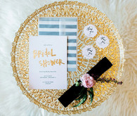 New Year's Bridal Shower gold invitation