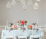 New Year's Bridal Shower modern tablescape