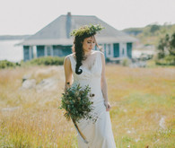 Golden Fall Coastal Bride
