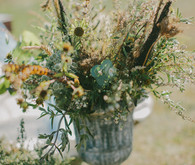Golden Fall flower decor