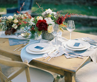 Nashville Botanical Garden white and light blue tablescape