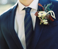 Fall inspired boutonniere