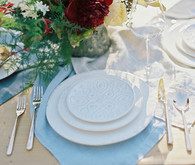 Nashville Botanical Garden wedding white place setting