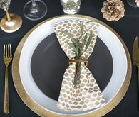 Black and Gold Wedding Place Setting