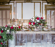 Romantic Luxe wedding inspiration tablescape
