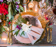 Romantic Luxe Wedding Place Setting