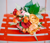 Orange and red colorful bouquet