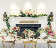 Floral wedding inspired tablescape