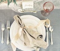 Floral Wedding Place Setting
