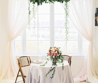 Floral wedding tablescape