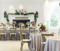 Floral wedding inspired reception area