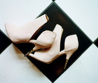 Pink Rachel Zoe bridal shoes