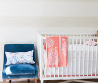 modern pink and blue nursery
