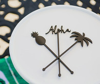 Aloha bridal shower stir sticks