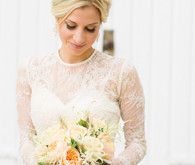Lace wedding dress with