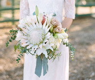 Protea light colored bouquet