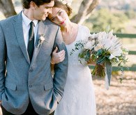Vintage Southern California wedding portrait