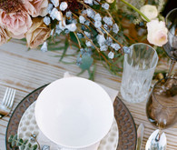Vintage and rustic place setting