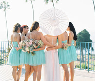 Nautical wedding bridesmaids