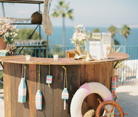 Nautical La Jolla wedding bar