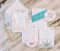 Nautical La Jolla wedding invitations