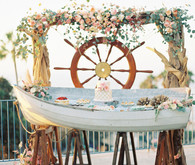 Nautical La Jolla Wedding Dessert Table