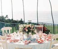 Nautical La Jolla wedding tablescape