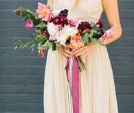 Colorful bohemian bouquet