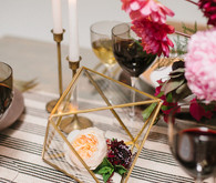 Gold table decor