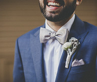 Groom with silver boutonniere
