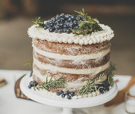 Blueberry naked cake