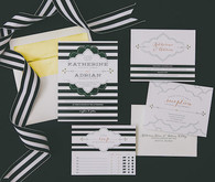 Black and white invitations