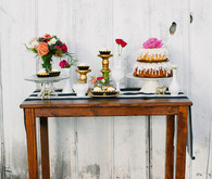 Floral Farm Wedding Dessert Table