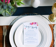 Floral Farm Wedding Pink Place Setting