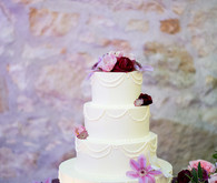 4 tiered wedding cake