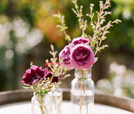 Vintage bottle florals
