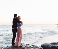 Early spring beach proposal