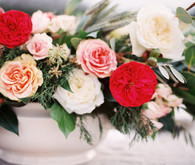 Red rose floral centerpiece