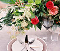 Rustic outdoor tablescape