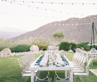 Palm springs wedding tables cape