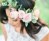 Light pink flower crown