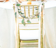 Gold chair decor