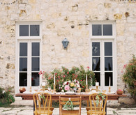 Spring garden editorial tablescape