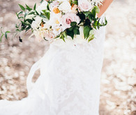 White and light pink bouquet