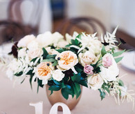 Elegant centerpiece and table number