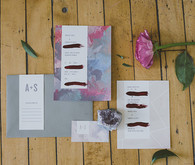 Purple bohemian invitation